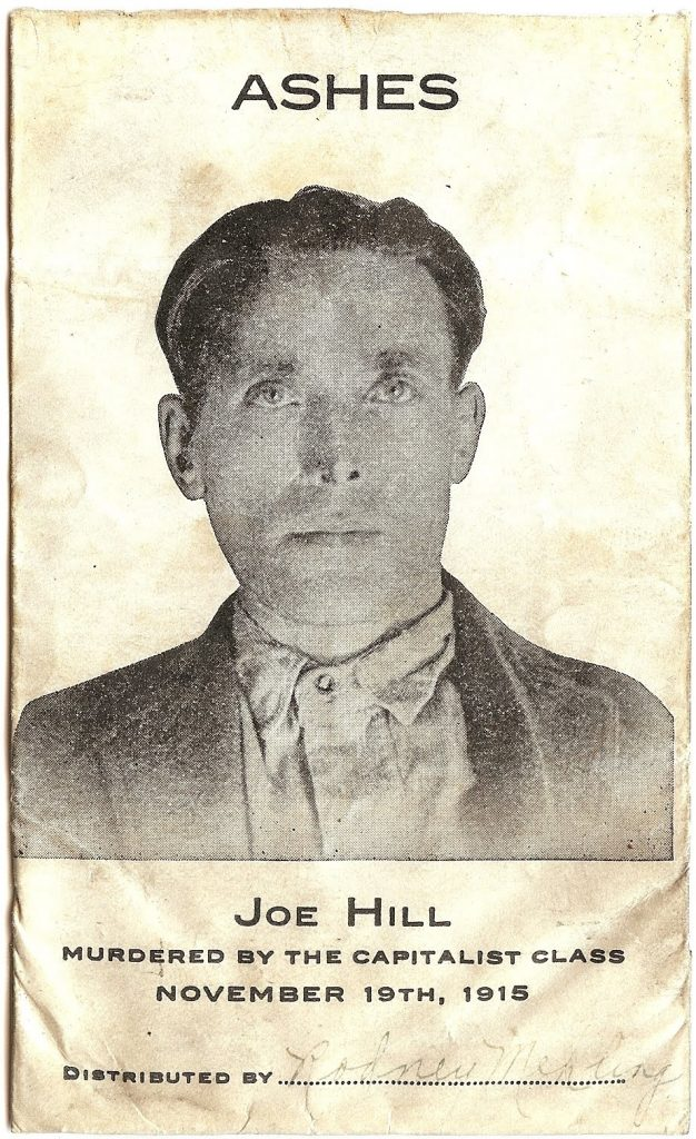 One of the 600 envelopes used to scatter Joe Hill's ashes across the country.
