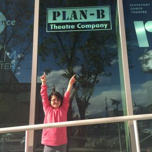 Presley outside the Rose Wagner Performing Arts Center