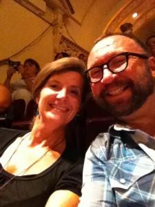 Michael Canham with Teresa Sanderson (pre-ERIC(A) haircut)