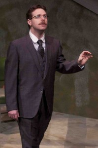 Jay Perry as Friedrich Hayek in CLEARING BOMBS