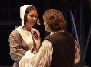 Lauren Noll As Hester Prynne With David Fetzer Arthur Dimmedale In THE SCARLET