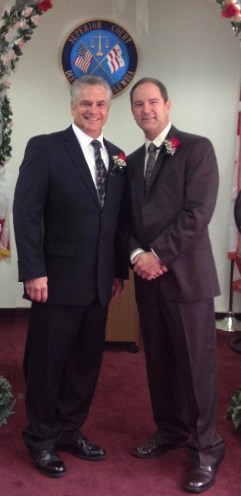 Kim Blackett & Brent Schneider on their wedding day, October 25, 2011 (in celebration of their 25th anniversary)