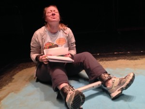 April Fossen in rehearsal as Susan in NOTHING PERSONAL