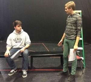 Logan Tarantino & Topher Rasmussen in rehearsal.